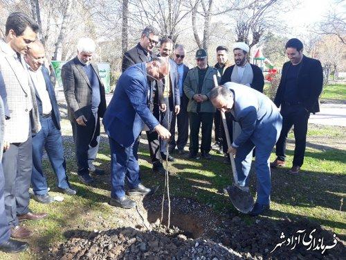غرس 40 اصله نهال به مناسبت گرامیداشت چهلمین روز شهادت سردار دلها سپهبد قاسم سلیمانی