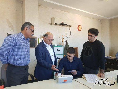 مانور سراسری حوزه فناوری اطلاعات و ارتباطات انتخابات در آزادشهر برگزار شد
