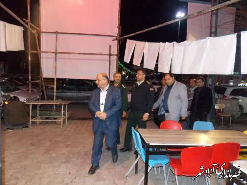 بازدید فرماندار آزادشهر و هیاتهای نظارت و بازرسی از ستاد تبلیغاتی کاندیداها