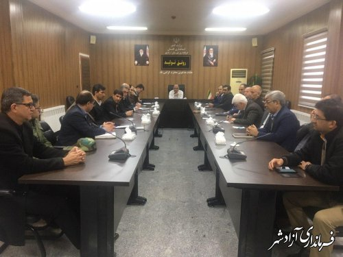 جلسه اضطراری شورای هماهنگی مدیریت بحران آزادشهر تشکیل شد