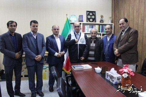 بازدید استاندار گلستان از ستاد انتخابات، هیات های اجرایی، بازرسی و نظارت در فرمانداری آزادشهر