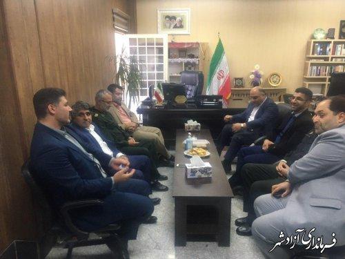 دیدار و گفتگوی فرمانداران شهرستان های آزادشهر و رامیان