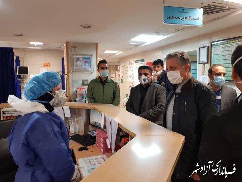 بازدید معاون سیاسی و امنیتی استاندار گلستان از بیمارستان حضرت معصومه (س) آزادشهر