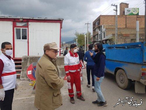 برپایی ایستگاه ایست و بازرسی در 5 نقطه آزادشهر و مسدودی کامل ورود مسافرین به سطح شهر آزادشهر