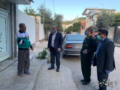 اهدای بسته های بهداشتی و ضدعفونی کننده رایگان به جانبازان شهرستان آزادشهر