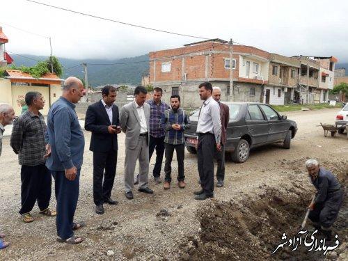 پروژه های عمرانی متعددی در بخش مرکزی شهرستان آزادشهر در حال اجرا می باشد
