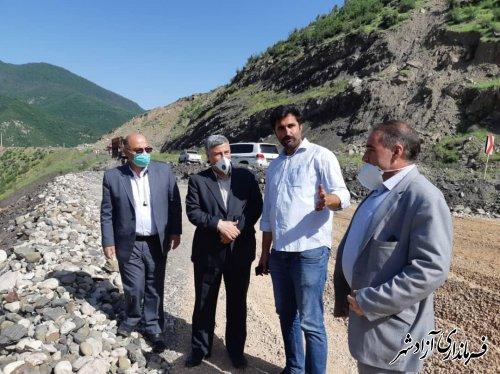 بازدید معاون عمرانی استاندار گلستان از پروژه ملی جاده آزادشهر به شاهرود