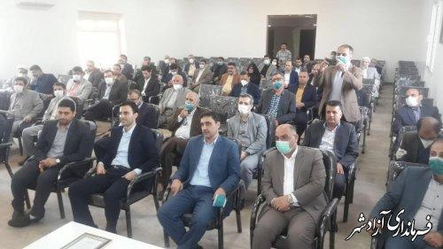 مراسم تودیع و معارفه دادستان عمومی و انقلاب شهرستان آزادشهر برگزار شد