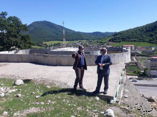 بازدید فرماندار آزادشهر به همراه شهردار نوده خاندوز از پروژه های عمرانی این شهرداری
