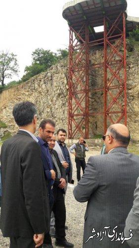 بررسی میدانی و روند پیشرفت 3 پروژه اقتصادی و گردشگری شهرستان آزادشهر