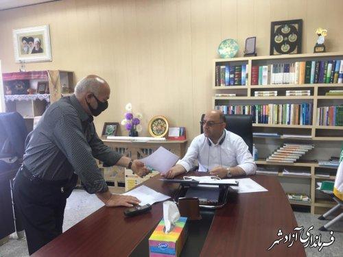 ملاقات عمومی جمعی از شهروندان با فرماندار شهرستان آزادشهر