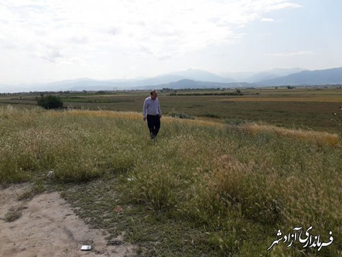 بازدید سرپرست یگان حفاظت میراث فرهنگی شهرستان آزادشهر از تپه صاتلق بای زیتونلی