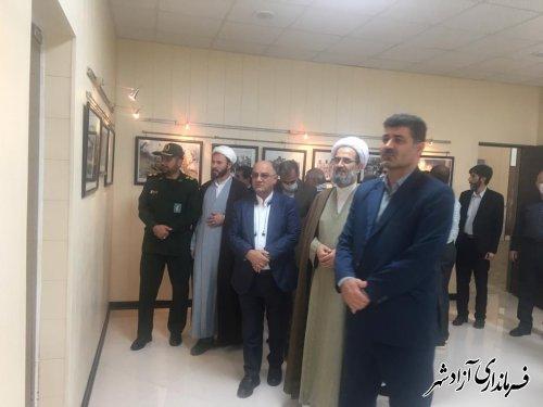 غبارروبی مزار شهدا، بازدید از نمایشگاه ویژه دفاع مقدس و تجلیل از رزمنده عملیات بیت المقدس در آزادشهر