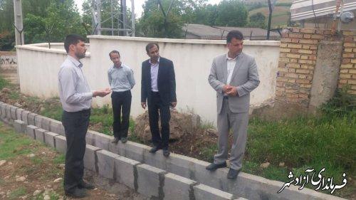 بازدید معاون عمرانی فرمانداری به همراه بخشدار مرکزی از پروژه های عمرانی روستاهای بخش مرکزی آزادشهر