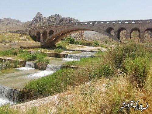 سرکشی سرپرست یگان حفاظت میراث فرهنگی آزادشهر از پل تاریخی نوده غزنوی