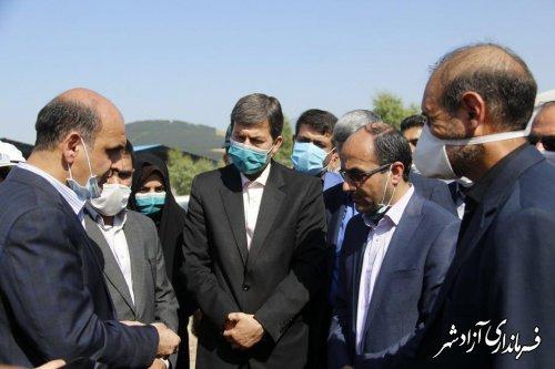 عملیات اجرایی پارک پسماند و پروژه لندفیل پسماندهای شهرستان آزادشهر آغاز شد