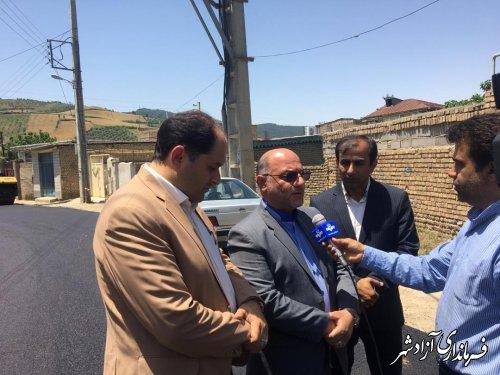 طرح هادی روستایی در 29 روستای شهرستان آزادشهر در حال اجرا می باشد