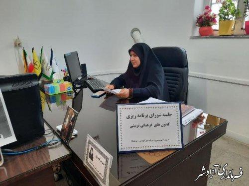 جلسه برنامه ریزی کانونهای فرهنگی وتربیتی شهرستان آزادشهر