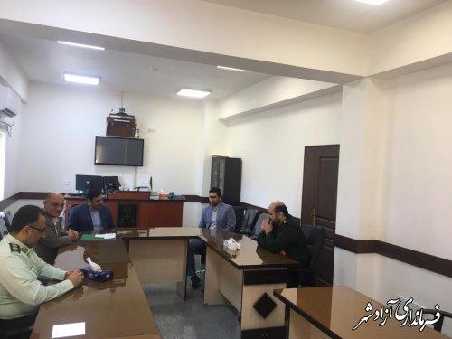 دیدار فرماندار و اعضای شورای تامین آزادشهر با رییس و دادستان دادگستری این شهرستان