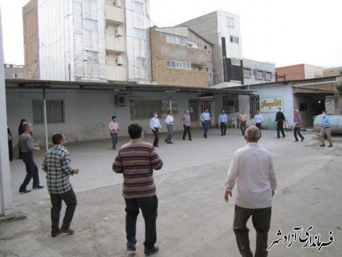 کارگاه آموزشی ورزشهای مناسب با تقویت سیستم ایمنی بدن همراه با حرکات نرمشی باحضور کارکنان اداری آموزش وپرورش شهرستان آزادشهر