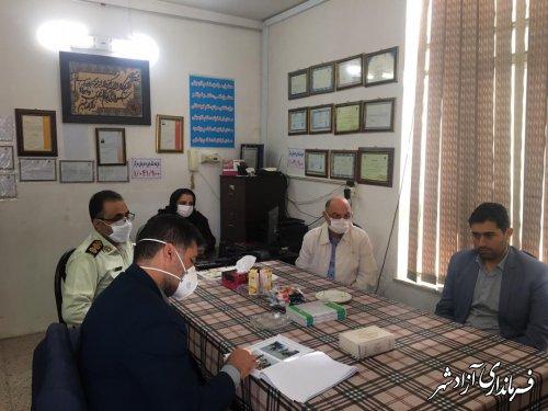 بازدید فرماندار و اعضای شورای تامین آزادشهر از دو کمپ ترک اعتیاد و یک مرکز نهگداری معلولان