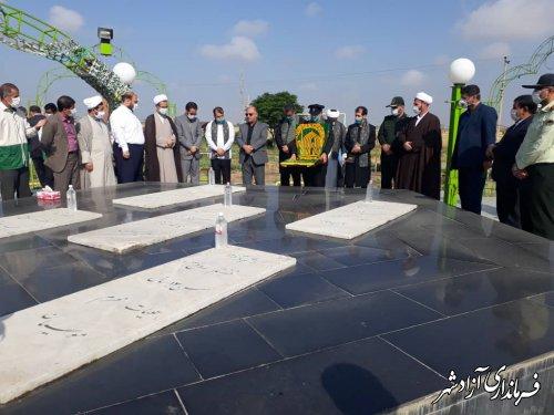 حضور خدام بارگاه منور رضوی و کاروان زیر سایه خورشید در شهرستان آزادشهر