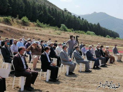 کلنگ زنی سد کوچک مخزنی با اعتبار 4 میلیارد تومان در شهر نوده خاندوز