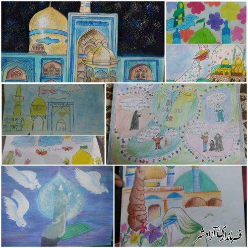 مسابقه بزرگ نقاشی زیارتی با پای رنگ در شهرستان آزادشهر برگزار شد.