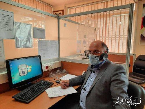 حضور فرماندار شهرستان آزادشهر در مرکز سامد گلستان