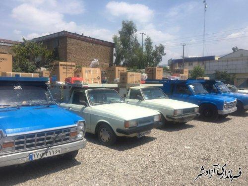 اهدای 19 سری جهیزیه رایگان به 19 زوج جوان نیازمندی در شهرستان آزادشهر