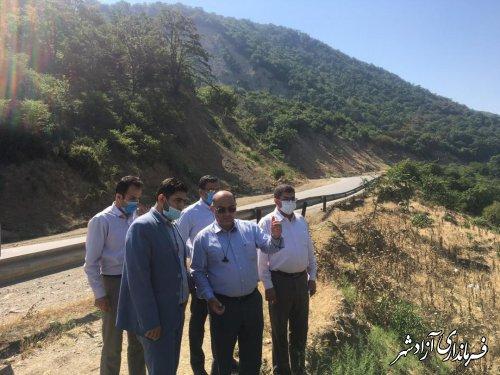 بازدید فرماندار و دادستان آزادشهر از آزادسازی حریم رودخانه خرمارود در بخش چشمه ساران