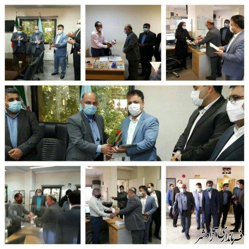 دیدار و گفتگوی فرماندار آزادشهر با رییس، کارکنان و مراجغین اداره تامین اجتماعی شعبه آزادشهر