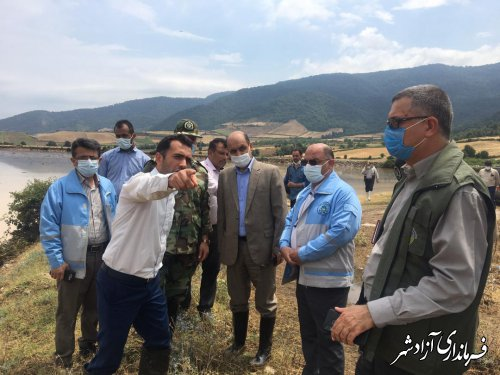 بازدید استاندار گلستان از مناطق سیلزده شهرستان آزادشهر