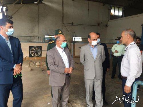 بازدید استاندار گلستان از کارخانه تولید کپسول اکسیژن در آزادشهر