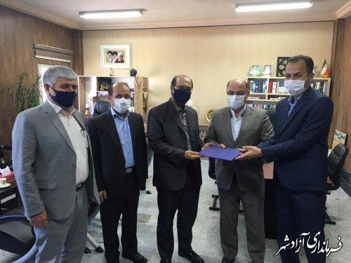 معارفه رییس جدید اداره امور منابع آب شهرستان آزادشهر