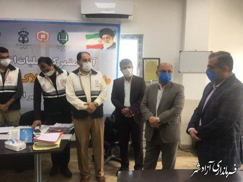 بازدید فرماندار آزادشهر از طرح صدور سند املاک بنیاد علوي در شهرداری نوده خاندوز