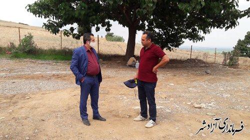 بازدید رئیس میراث فرهنگی شهرستان آزادشهر از مراحل اجرایی پروژه پارک زیتون