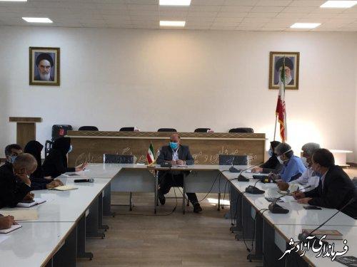 جلسه مناسب سازی محیط و مبلمان شهری شهرستان آزادشهر برگزار شد