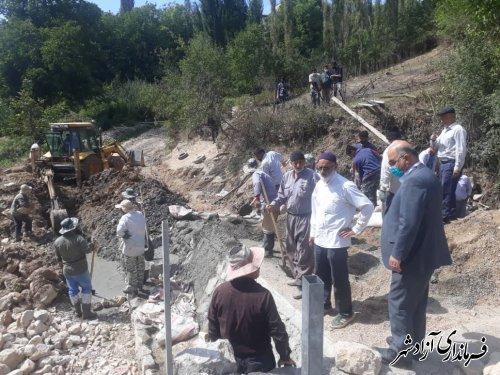 بازدید فرماندار آزادشهر از پروژه های عمرانی در حال اجرا در روستای وامنان