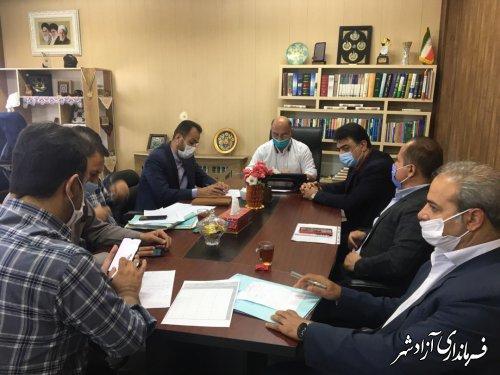 جلسه مدیریت بحران حوزه آب و فاضلاب شهرستان آزادشهر برگزار شد