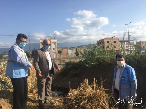 بازدید مدیرکل بازسازی سازمان مدیریت بحران کشور از نقاط حادثه خیز شهرستان آزادشهر