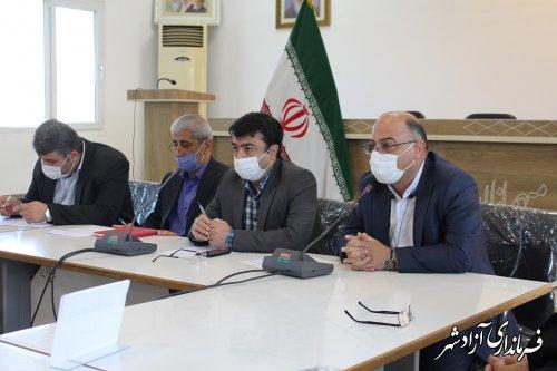 کارگروه تسهیل و رفع موانع تولید استان به میزبانی فرمانداری آزادشهر تشکیل جلسه داد