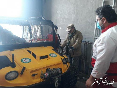 بازدید فرماندار آزادشهر از راهدارخانه و پایگاه امداد و نجات هلال احمر خوش ییلاق