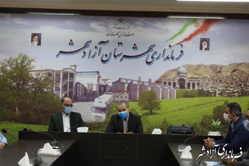نشست معاون سیاسی استاندار و فرماندار آزادشهر با ائمه جمعه تشیع و تسنن آزادشهر