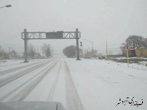 هشدار فرماندار آزادشهر در مورد بارش برف و یخبندان