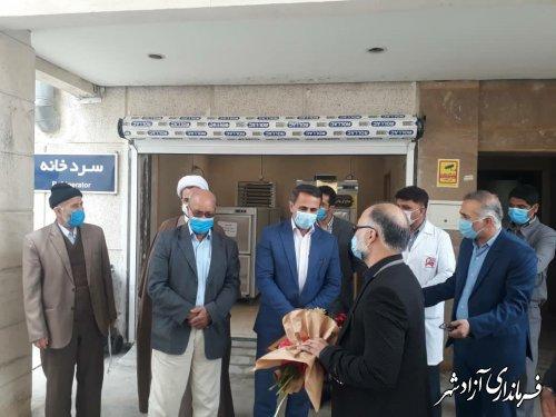 تجهیز بیمارستان حضرت معصومه(س) آزادشهر توسط خانواده مرحوم سدیدی