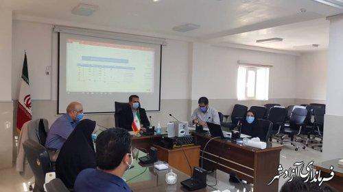 جلسه کارگروه سلامت و امنیت غذایی شهرستان آزادشهر برگزار شد