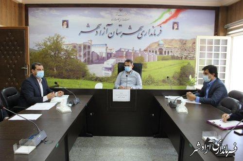 جلسه شورای ترویج و توسعه فرهنگ شهادت در شهرستان آزادشهر برگزار شد