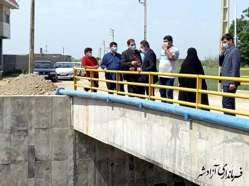 بازدید فرماندار آزادشهر از طرح های عمرانی روستاهای بخش مرکزی