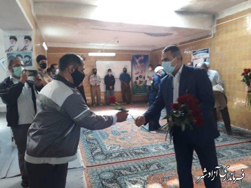 تجلیل و قدردانی از کارگران پرتلاش معدن زمستان یورت آزادشهر